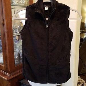 Old Navy Girls Black Fleece Vest